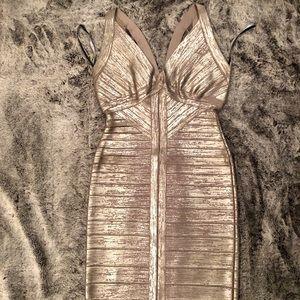 Herve Leger Trista Bandage Cocktail Dress